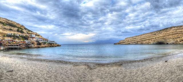Matala Beach Krétán